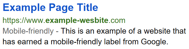 example page title