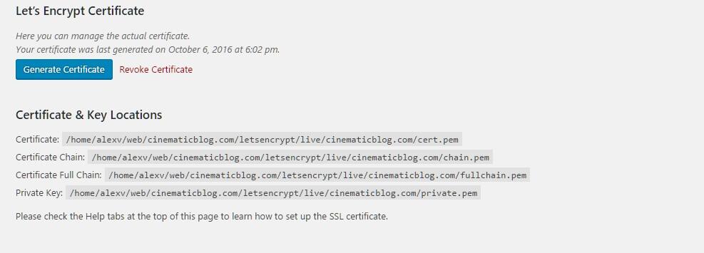 let's encrypt sertifikası